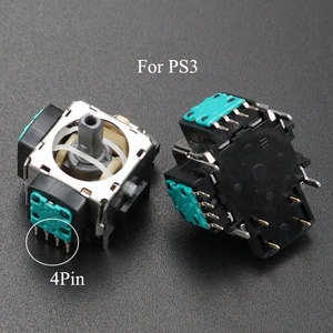 Image 2 - YuXi 2 قطعة/الوحدة استبدال 3pin 4pin عصا التحكم ثلاثية الأبعاد التناظرية قبضة عصا لسوني PS3 المراقب المالي