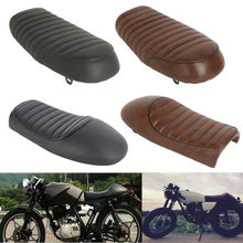 Motorcycle Universal Leather Cafe Racer Seat Brat & Hump Saddle For Honda Suzuki Yamaha high quality black vintage flat brat styling cafe racer seat saddle pu leather motorcycle flat brat seat for honda cb yamaha sr