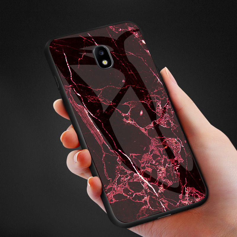 Image 5 - Luxury Marble Tempered Glass Phone Case For Samsung Galaxy J6 J4 Plus J8 J3 2018 J5 J7 Pro 2017 J2 Prime J730 Cover Coque Fundas-in Fitted Cases from Cellphones & Telecommunications