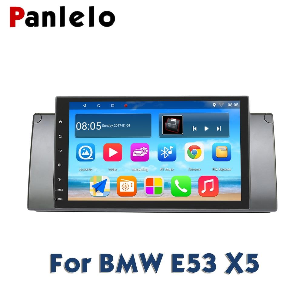 Panlelo Pour BMW X5 E53 Android navigation gps Autoradio 2 Din Android 9 Pouces Full Tactile Quad Core IPS Écran lecteur multimédia