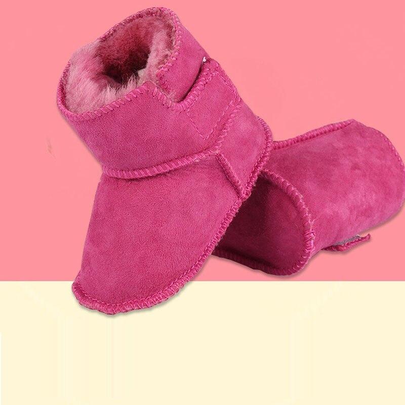 HONGTEYA Winter super warm First Walkers infants PVC boots Faux fur baby girls boys boot ...