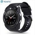 TEAMYO V8 Relógio Inteligente Bluetooth Conectividade MTK6261 Smarwatch Notificação Com Suporte de Câmera Cartão SIM Para IOS Android