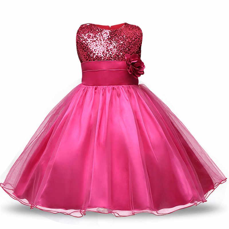 a1e43b394 ... 1 er vestido de Navidad para bebés niñas pequeñas Navidad 2 años fiesta  de cumpleaños vestido