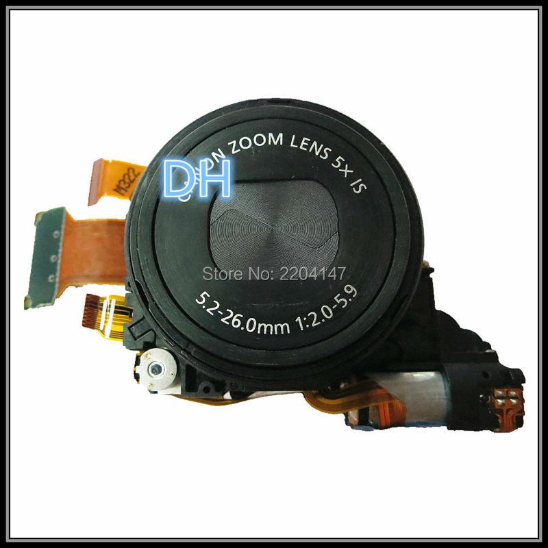 Prix pour Livraison gratuite, pièces de rechange D'origine lentille s100 s100v pc1675 ceinture noir ccd lentille de l'appareil photo pour Canon