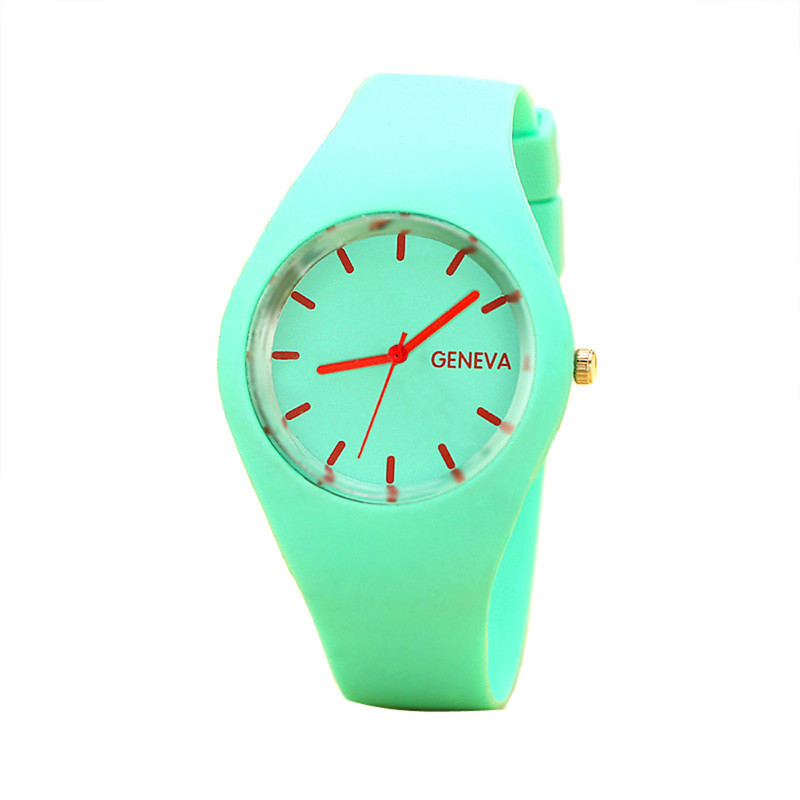 Excellent Quality Brand New Geneva Watches Women Sports Candy-Colored