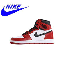 9dfa4c1ffdd Nieuwe Hoge Kwaliteit Originele Nike Air Jordan 1 Chicago/Grenen Groen  mannen Skateboard Schoenen Outdoor Sneakers 555088 101 55.