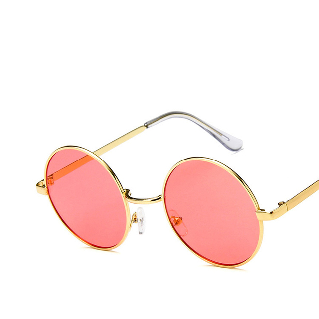 Fashion sunglass Round Sunglasses Women Men Classic Brand Designer Metal Frame Ladies Clear Lens Eye Glasses For Female 2