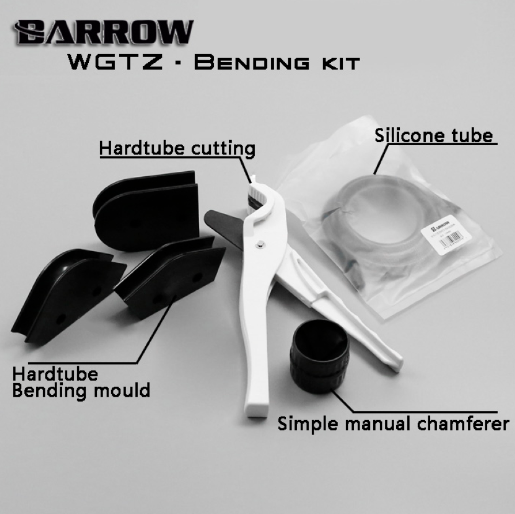 Barrow WGTZ-12/14/16 For OD12 / 14 / 16mm Acrylic / PMMA / PETG Hard Tubes Bending Mold Kit, Easy To Use