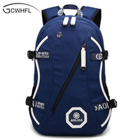 2017 Men Male Oxford Backpack College Student School Backpack Bags For Teenagers Vintage Mochila Casual Rucksack
