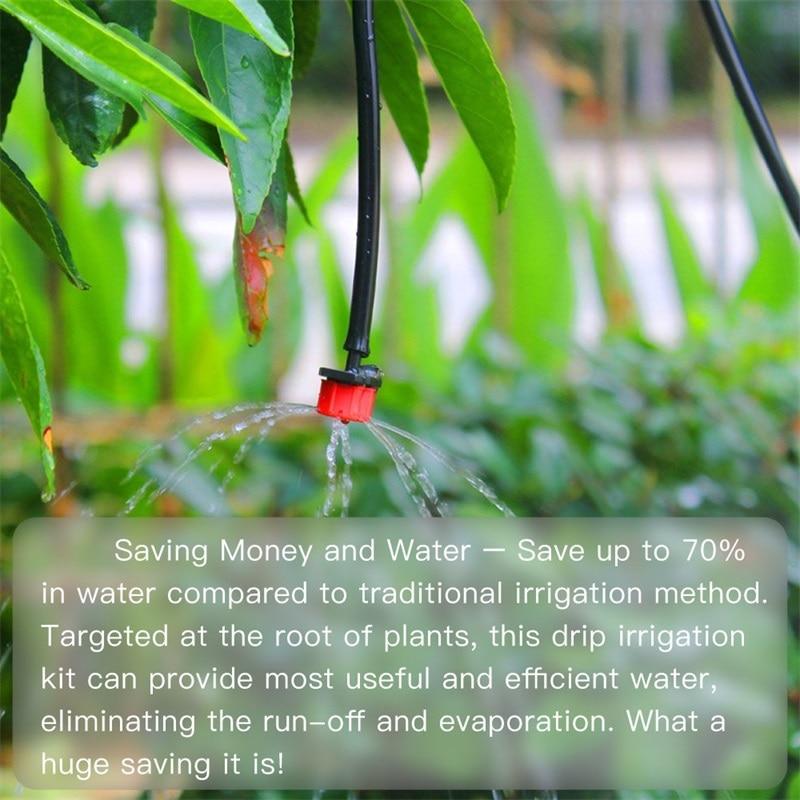 HTB1vRjLLkvoK1RjSZFwq6AiCFXam 200Pcs Adjustable Micro Drip Irrigation System Watering Sprinklers Anti-clogging Emitter Dripper Red Garden Supplies