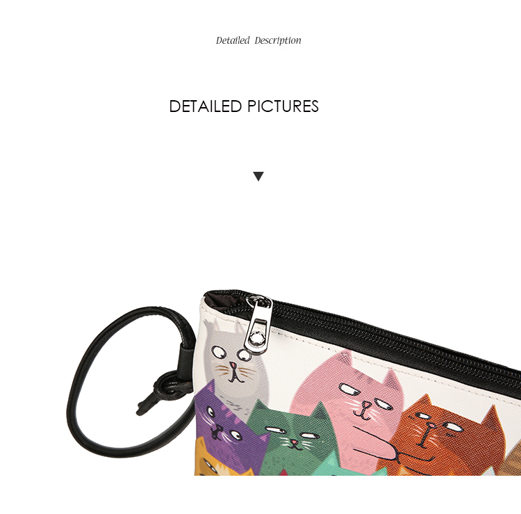 Menghuo 2017 Women Envelope Shoulder Clutch Bag Quality PU Cartoon Cat Printing Small Female Message Purse for Teenagers Girls (31)