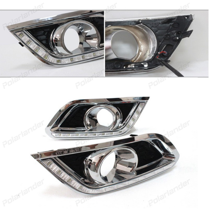 2 pcs Signal Parking Accessories Car Styling for B/uick E/ncore 2013-2015 LED DRL Daytime Running Lights Fog Light