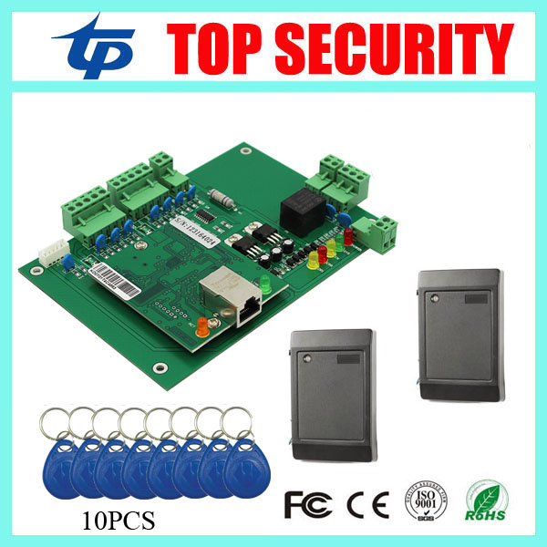 TCP/IP single door access controller access control panel door control board with RFID card reader 40000 users with software SDK metal rfid em card reader ip68 waterproof metal standalone door lock access control system with keypad 2000 card users capacity