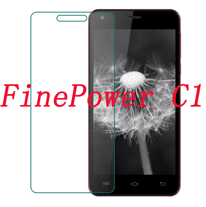 Smartphone Tempered Glass  for FinePower C1  5.0  Explosion-proof Protective Film Screen Protector cover