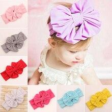 Hot Arrivel Cute Baby Girls Kids Big Bow Stretch Turban Bowknot Head  Headband 5BUZ 7G24