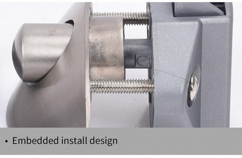 2xZinc Alloy Half Moon Handle Push Lock Latch Knob Caravan RV Cupboard/Drawer Camper Kitchen Cabinet Door Locks Hardware Patrs