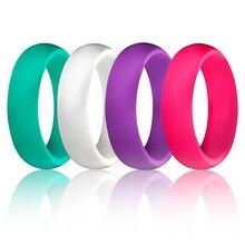 1 PC 5.7 MM סיליקון טבעת מוצק שחור אדום כחול זוג של גומי מזון כיתה אנטיבקטריאלי היפואלרגנית ה FDA ספורט אצבע טבעות מתנה
