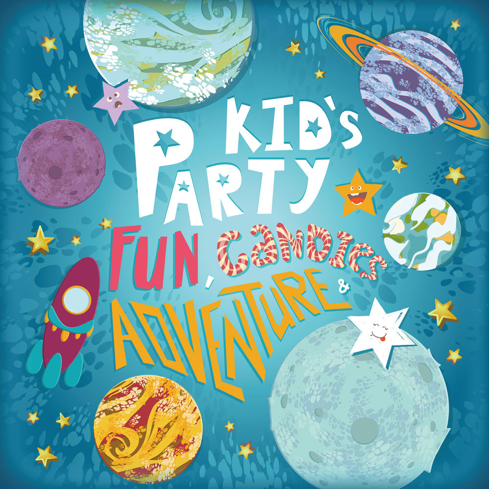 Kid's Party Photography Backgrounds Fun Candies Adventure Digital Photo Backdrop Cloth XT-6861