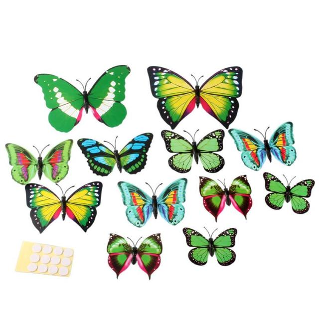 Hot12pcs 3d wall stickers butterfly fridge magnet wedding hot12pcs 3d wall stickers butterfly fridge magnet wedding decoration home 2017 popular apr26 junglespirit Gallery