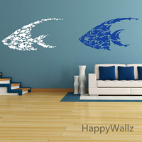 Fish Wall Sticker Baby Nursery Wall Decal Cute Fishes For Kids Room DIY Removable Wall Decoration A29