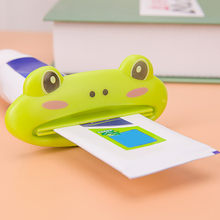 HOT 1pc 9cm*4 cm Bathroom Home Tube Rolling Holder Squeezer Easy Cartoon Toothpaste Dispenser colorful cartoon design(China)