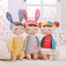 Λούτρινα Γεμιστά Κινούμενα Ζώα Παιδικά Παιχνίδια για Κορίτσια Παιδικά Παιδικά Γενέθλια Χριστουγεννιάτικα Δώρα Angela Rabbit Girl Metoo Doll