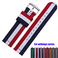 18mm Nylon Watchband for withings activite / Steel / Pop Fabric Watch Band Sports Wrist Strap NATO Bracelet Multi Colors + Tool
