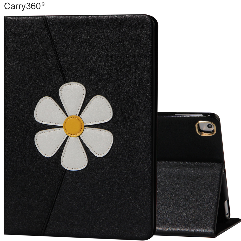 Case for iPad Air 1, Carry360 Fashion Luxury Flip Flower PU Leather Stand Smart Cover fo ...