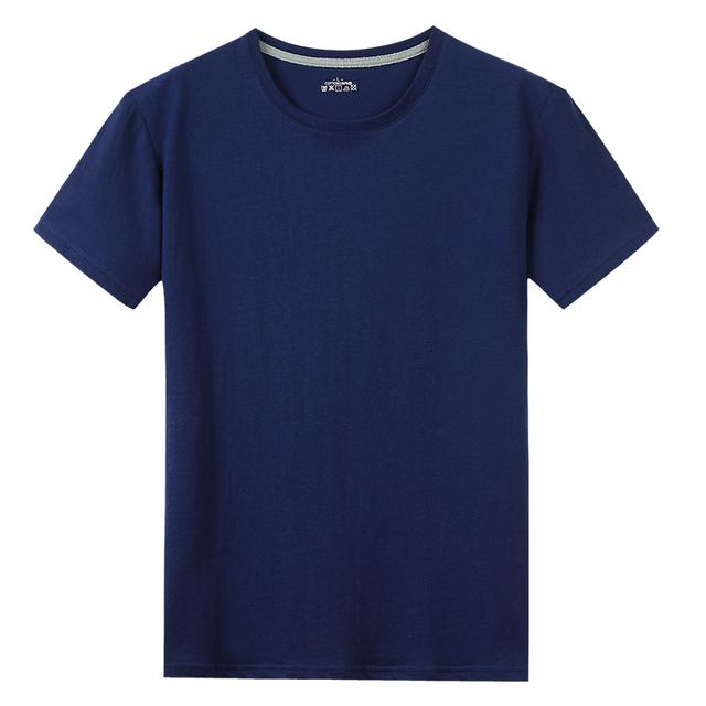 Free Ship T-Shirts Men Women 100% Cotton Summer Short Solid Male Female Basic Tshirts Plain Round Neck Plus Size 5XL Tees shirt