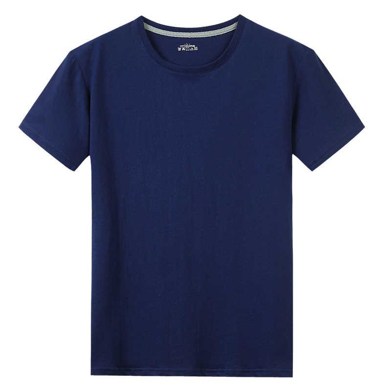 Libera La Nave T-Shirt Donne Degli Uomini di 100% di Estate del Cotone Breve Solido Maschio Femmina di Base Magliette Plain Girocollo Più Il Formato 5XL magliette camicia