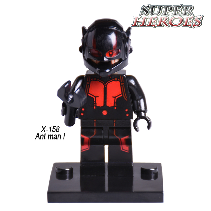 XINH 158 ANT-MAN Hank Pym Diy figures Single Sale Marvel Super Heroes Starwars Building Blocks Sets Model Bricks Kids Toys фигурка ant man ant man yellow jacket pop marvel