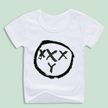 Ready Stock,Boy and Girl Russia Hip Hop Raper Oxxxymiron Print T-shirts Children Funny Tops Tee Baby Music Clothing