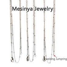 25 pièces 20 316L S. Chaîne de Station à billes en acier pour amulettes flottantes personnalisées collier pendentif médaillon en verre sans médaillon