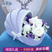Party creatieve persoonlijkheid bloem verpakking cradle hoge-end geschenkdoos rose boeket