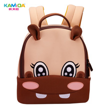 Hippo Cute Cartoon Anime Kindergarten Backpack Kids 3D Embroidered Childrens Bag in Ultra Light Reduced for School