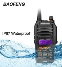 2017 Nueva Baofeng UV-9R UV9R Walkie Talkie 8 W UHF VHF UV Dual Band Jamón de Dos Vías Transceptor de Radio de Caza IP67 A Prueba de agua