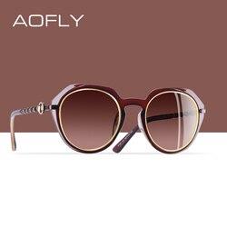 AOFLY BRAND DESIGN Polarized Sunglasses Women 2019 Classic Sun Glasses Female Round Gradient Lens Eyewear Goggles UV400 A101