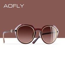Aofly Thương Hiệu Thiết Kế Kính Mát Nữ 2020 Cổ Điển Kính Chống Nắng Nữ Tròn Gradient Lens Kính Mắt Kính UV400 A101