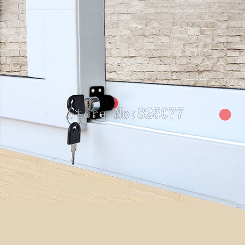 Free shipping 5 pieces/lot black color sliding window lock with key child safety protection limit lock sliding door lock KF1093 avr sx460 5 pieces sx460 free shipping