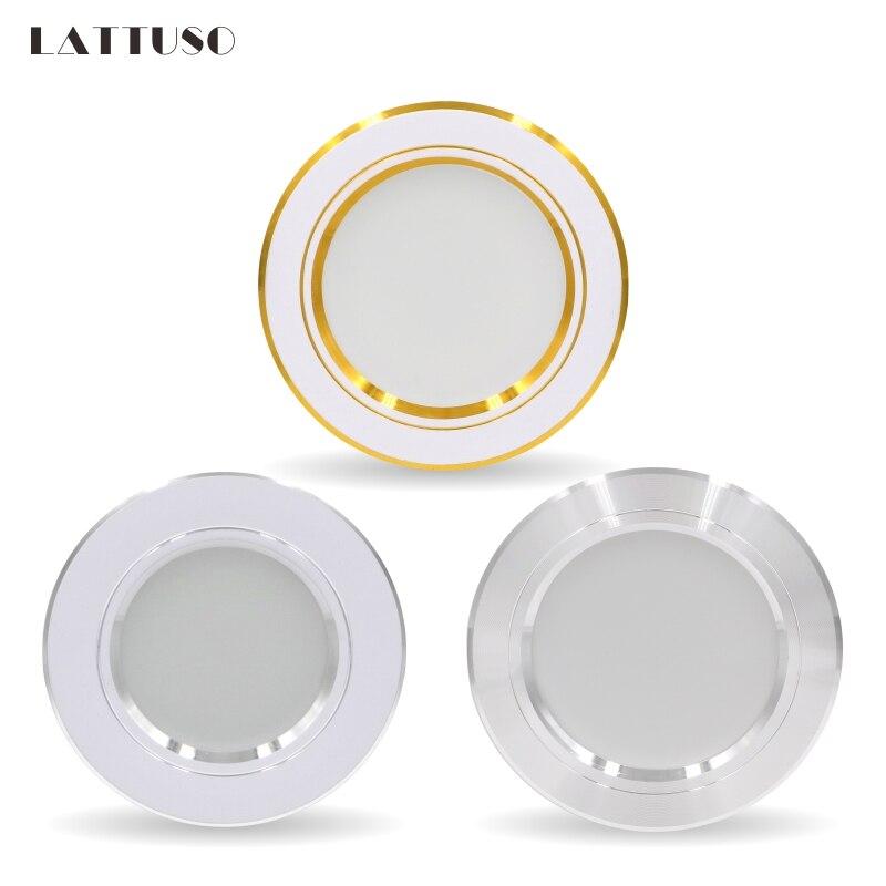LED Downlight 5W 9W 12W 15W 18W Gömme Yuvarlak LED Tavan Lambası AC 220V 230V 240V iç mekan aydınlatması Sıcak Beyaz Soğuk Beyaz