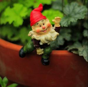 Image 3 - 4pcs לכל סט, גבוהה הוא 6 סנטימטר, מיני כובע גמד עציצי קישוטי זאקה גינון מצרכי טחבי בשרני מיקרו נוף elf