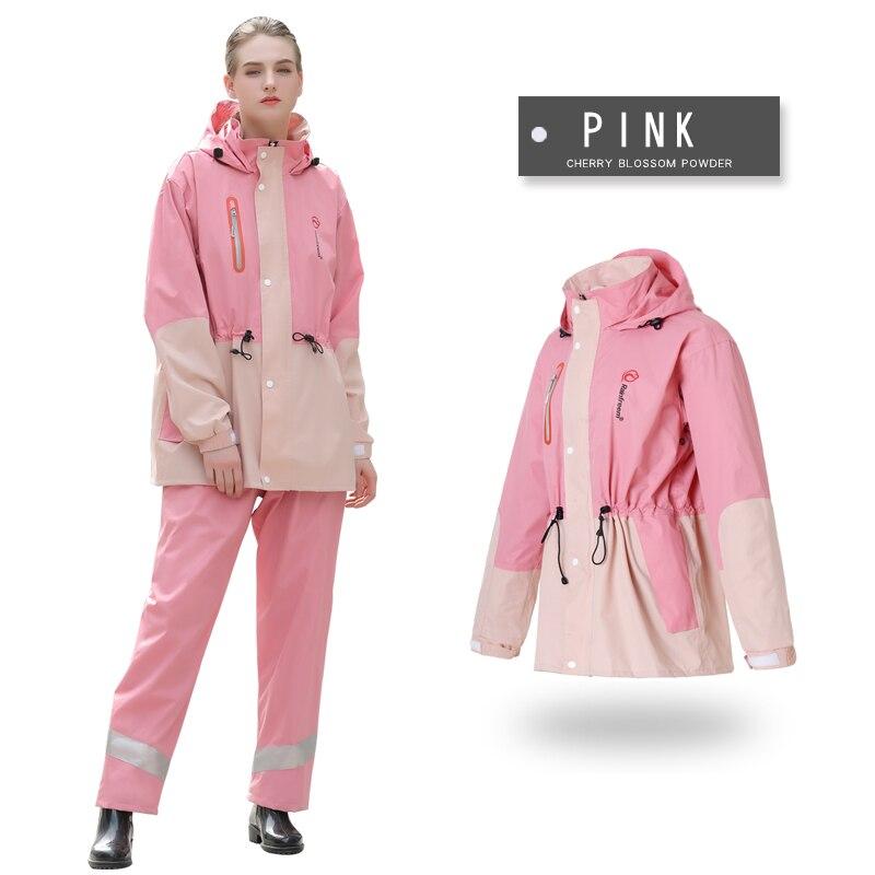 Rainfreem 남성/여성 방수 비옷 정장 대비 색 판초 방수 오토바이 레인 코트 투어 하이킹 레인 기어-에서비옷부터 홈 & 가든 의  그룹 1