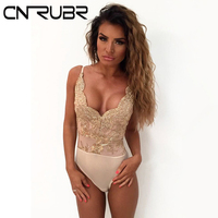 CN RUBR Embroidered Flower Women Tank Tops Fashion Halter Tops Deep V Exposed Lace Sexy Vest