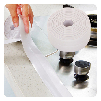 Kitchen and toilet waterproof mold tape wall line stickers Corner joint protection bumper Kitchen essentials PVC waterproof new Туалет