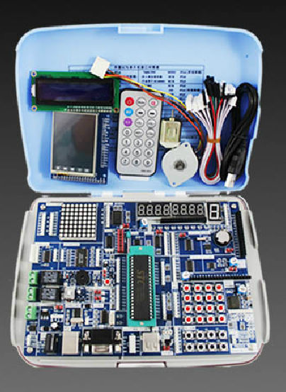 AVR + ARM +51 HC6800 experimental board microcontroller development board learning board kit STM32 pic microcontroller development board the experimental board pic18f4520 including pickit2 programmers excluding books