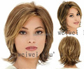 Graceful Medium Straight about 10 Inches Synthetic Hair Wigs