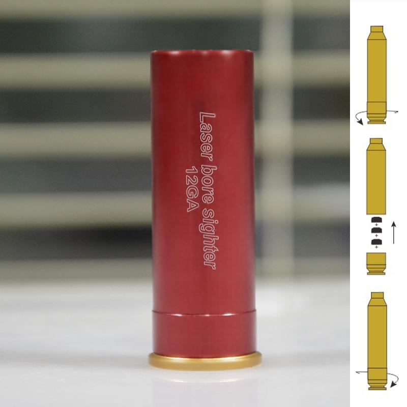 CWLASER 12GA Cartridge 5mW Red Laser Bore Sighter Dot Beam Laser Sight