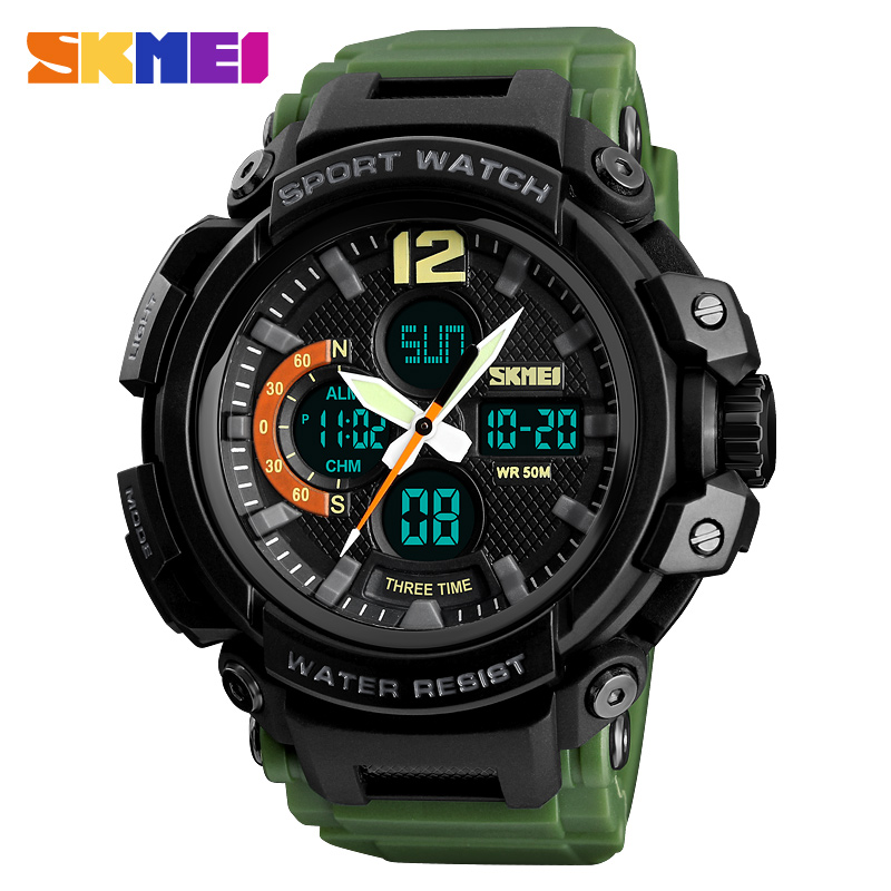 SKMEI 1343 Watches Men Luxury Brand Quartz Digital Wrist Watch Men Waterproof Outdoor Military Sport Clock Men's Wristwatch 2018 skmei mens watches top brand luxury led digital wrist watch men waterproof fashion military outdoor sport clock men s wristwatch