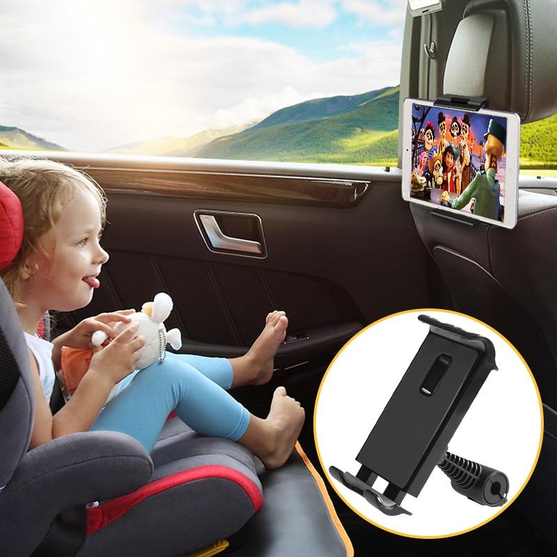 Car Tablet Phone Holder Seat Ajustable IPad Stand Car Phone Holder For Headrest 360 Rotation Mobile Phone Mount Holder