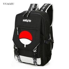 Naruto tornister Itachi Uchiha Cartoon plecak studencki dla nastolatka USB ładowanie plecak męski damskie torebki na ramię plecak